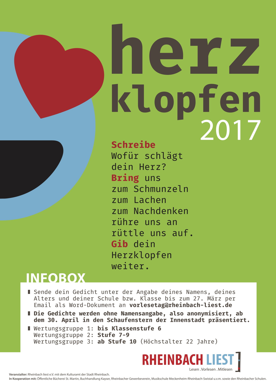 Lyrikwettbewerb Herzklopfen 2017 In Rheinbach
